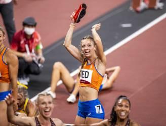 Nederland na ongekende inhaalrace Femke Bol en nationaal record naar finale 4x400 meter