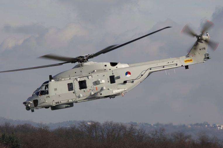 De NH-90 is een middelzware helikopter, die deels uit metaal, deels uit kunststof is opgebouwd. Beeld  Ministerie van Defensie