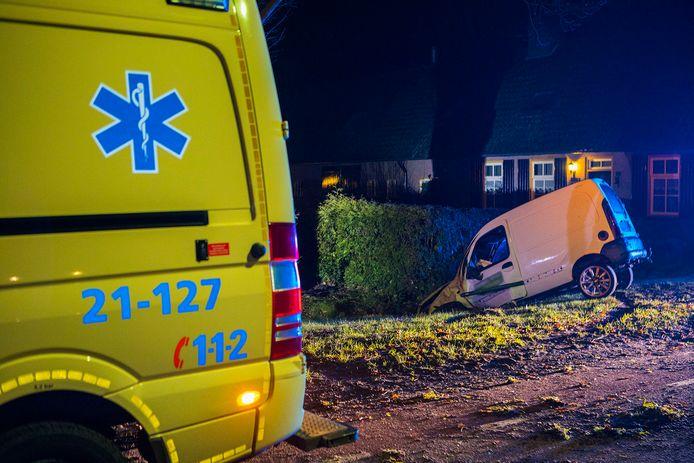 Hulpdiensten kwamen ter plaatse voor het ongeluk in het buitengebied van Sint-Oedenrode.