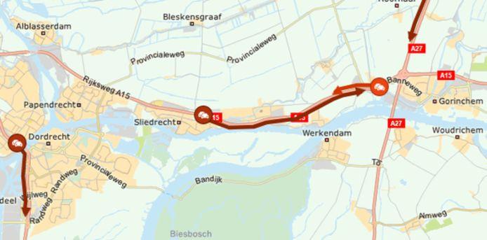 file bij knooppunt Gorinchem