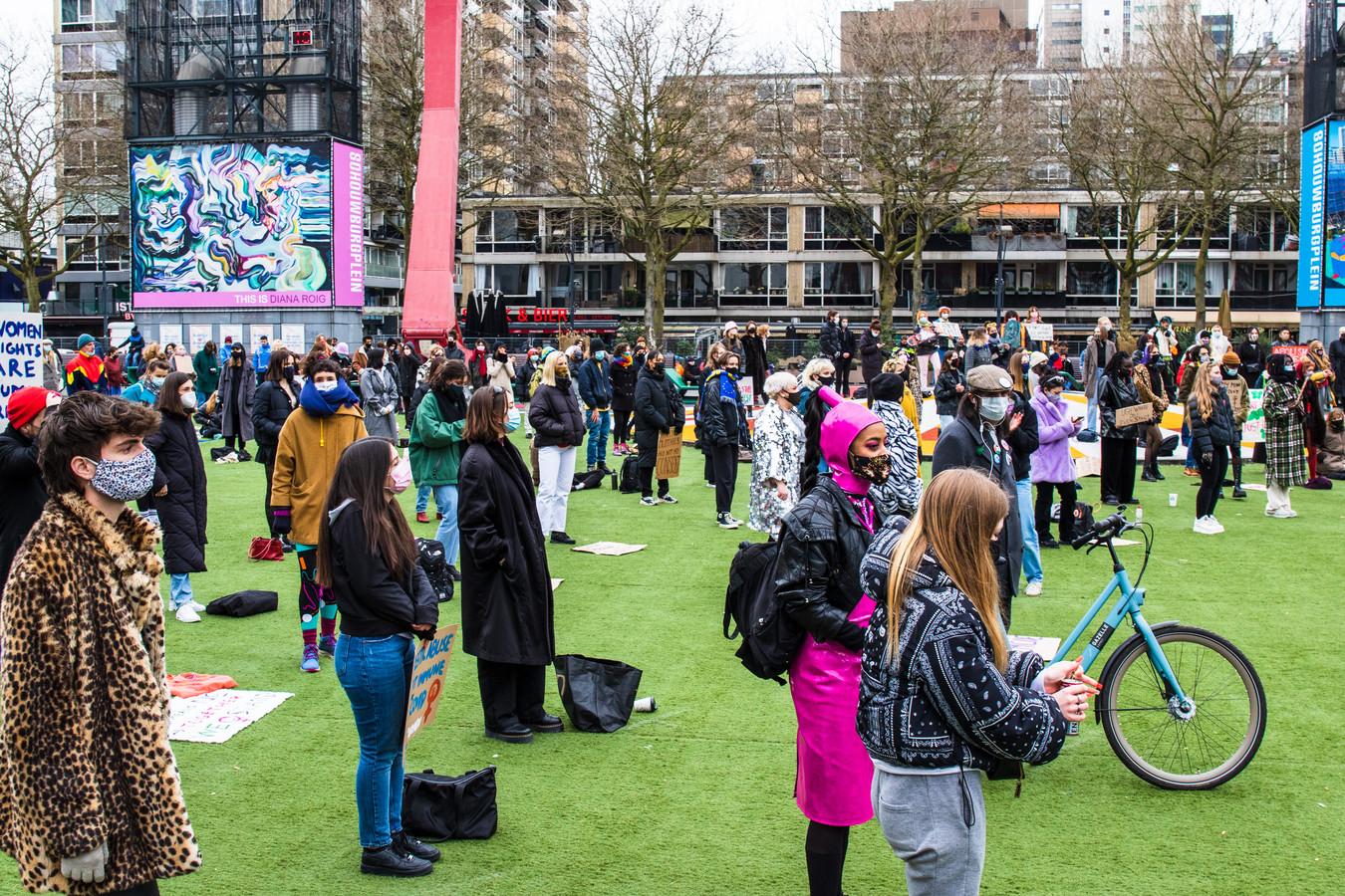 Demonstratie Schouwburgplein