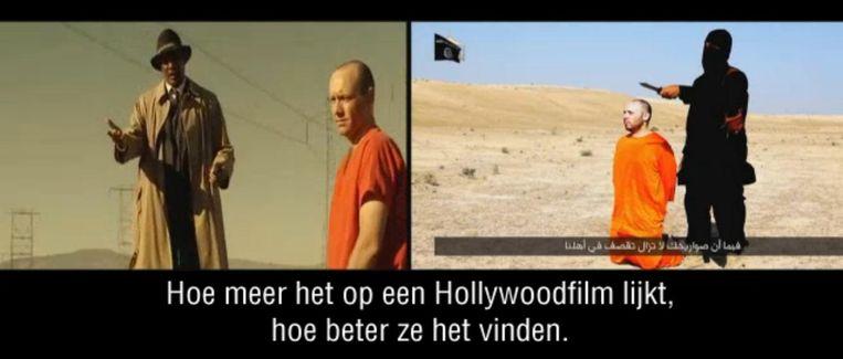 Fragment uit Zembla's promo voor 'De propagandamachine van IS'. Beeld NPO