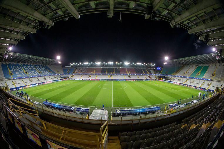 Het huidige Jan Breydelstadion moet in de plannen plaatsmaken voor een nieuwe voetbaltempel met 40.000 zitjes. Beeld Photo News