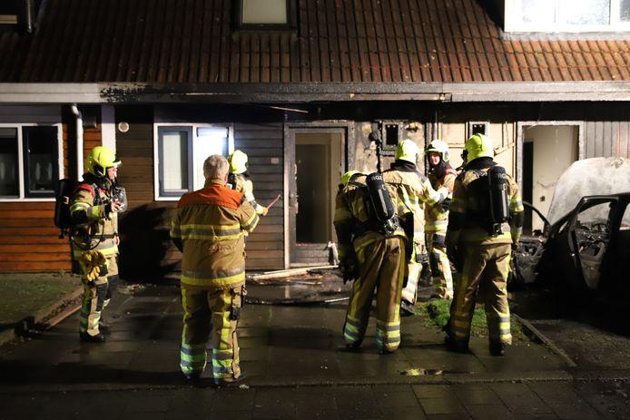 De brand is geblust in Culemborg en de schade aan de woningen wordt duidelijk.