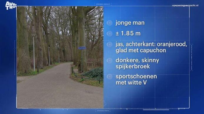 Het signalement van de 'fietserik' zoals de aanrander in Alkmaar en omgeving wordt genoemd.