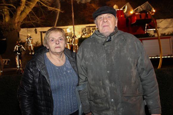 De bewoners José Diels (69) en Fons Van den Brande (71).