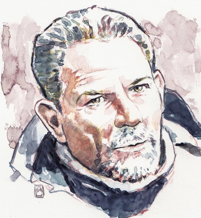 Tekening van verdachte Jos Brech, de 56-jarige Limburger.