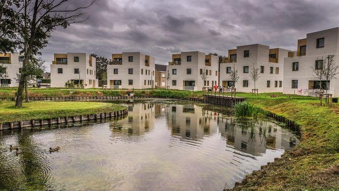 De nieuwbouwwoningen in de sociale wijk De Knok in Bissegem