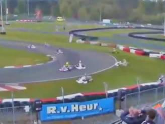 Half deelnemersveld gaat van de baan op Karting Genk