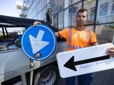 Magere oogst bij inleveractie gestolen verkeersborden Dronten: 'Het is een plaag hier'