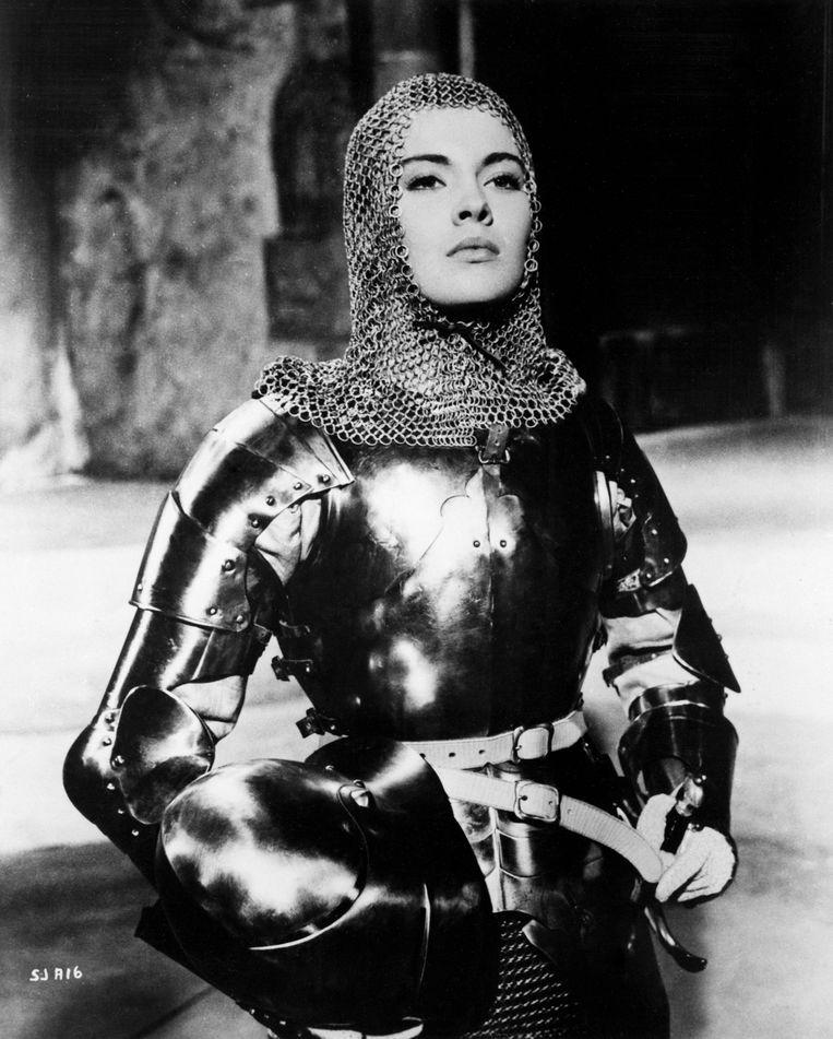 Actrice Jean Seberg met maliëncoif in de film Saint Joan (1957). Beeld Bettmann Archive