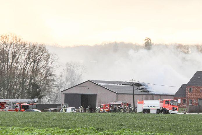 Op basis van materiaal dat de brandweer in de loods vond, is het parket een onderzoek gestart.