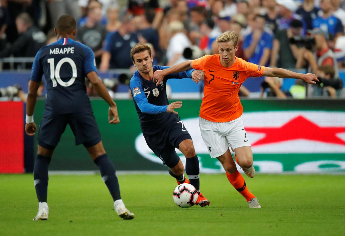 Frenkie de Jong in actie tegen Frankrijk.