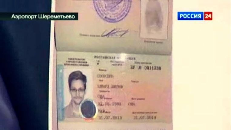 Het visum van Snowden. Beeld AP