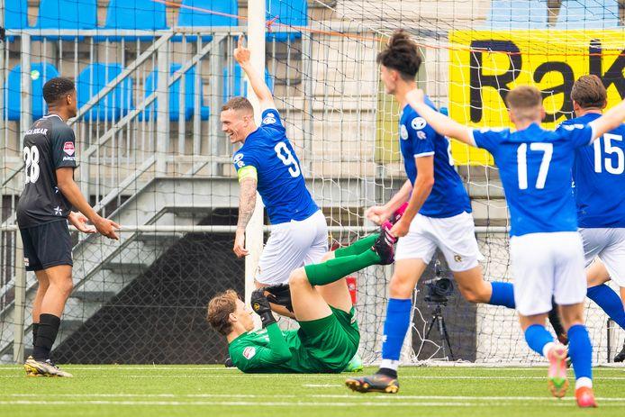 Met zijn 23 jaar was Jizz Hornkamp zaterdagmiddag de op één-na-oudste speler van FC Den Bosch. Hij maakte vlak na rust de enige Bossche treffer.