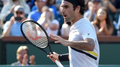 Federer probleemloos naar achtste finales Indian Wells - Exit Elise Mertens ook in dubbel