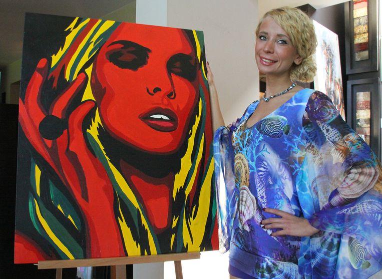 Olga bij haar eigen creatie, een 'Zelenko'.