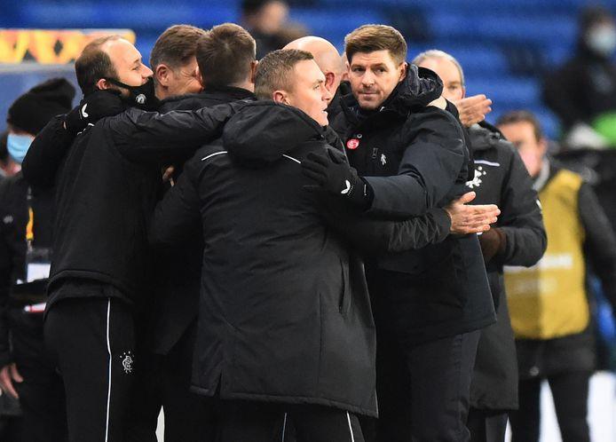 Opdracht volbracht voor Steven Gerrard en de Glasgow Rangers.