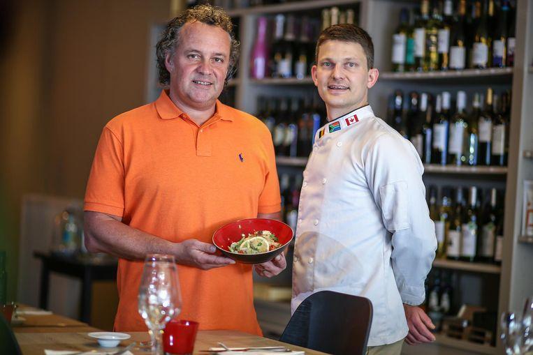 Zaakvoerder Johan Convents en chef Evert Maris.