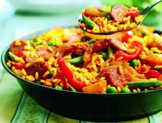 Vegetarische paella maken