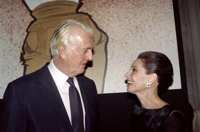 Hubert de Givenchy  en Audrey Hepburn in 1991