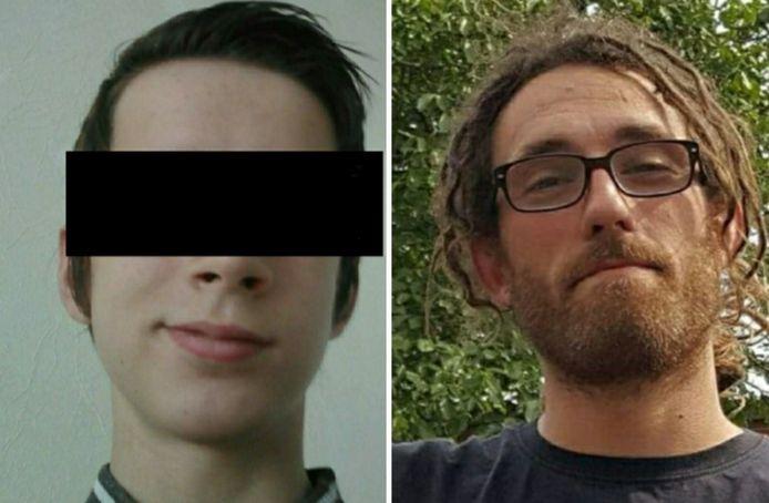 De 19-jarige gamer (links) stak op zes maart Leander Quintyn (32) neer op straat in Tielt. Hij overleed aan zijn verwondingen
