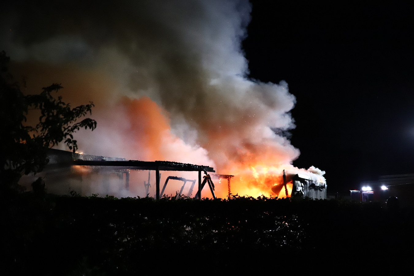 De brand op de camping in Kesteren.