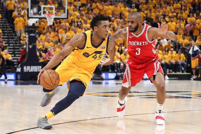 De basketballers van Houston Rockets waren te sterk voor Utah Jazz.