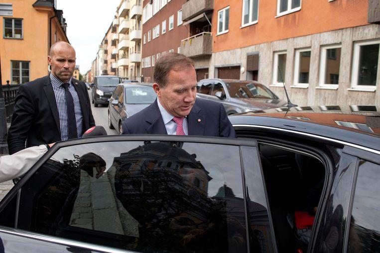 Zweedse premier Stefan Löfven. Beeld REUTERS