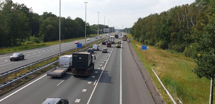 Het ongeluk op de A35 bij Borne