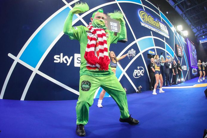Peter Wright als The Grinch.