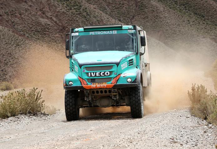 Gerard de Rooy tijdens etappe 5 van de Dakar Rally 2017