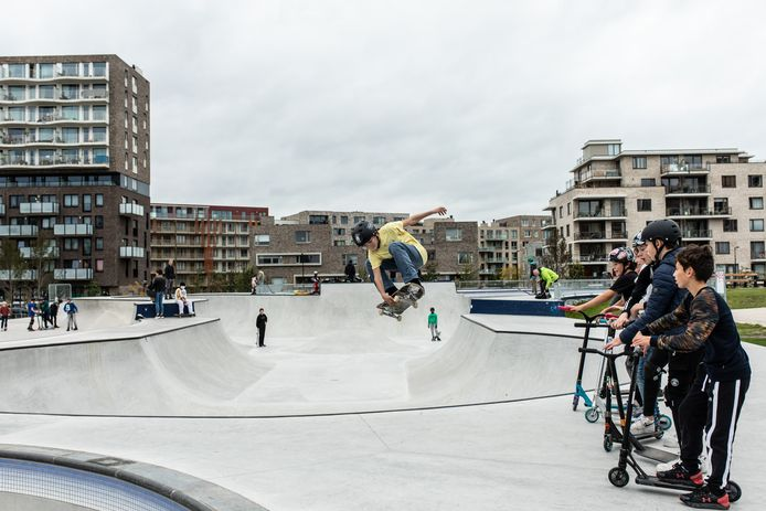 Zeeburg Skate Park op Zeeburgereiland.