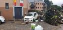 Le lendemain des inondations, Nunzia n'a pu que constater les dégâts, impuissante.