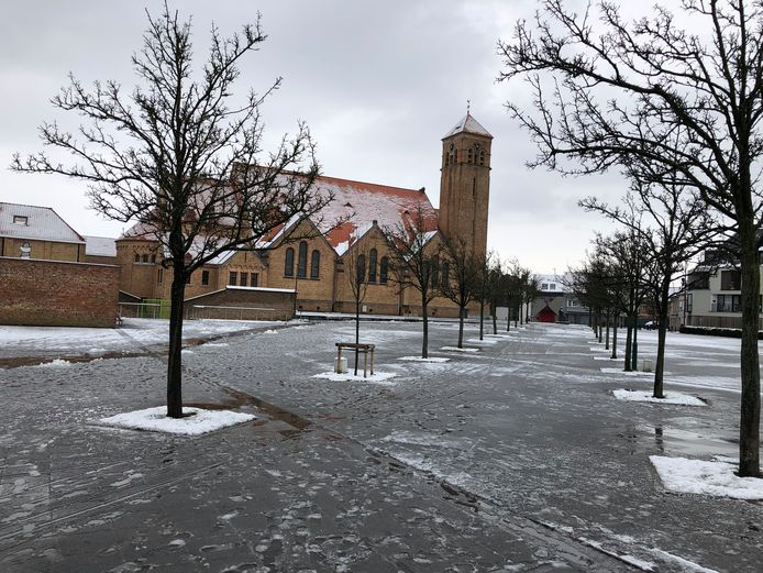 In Oostende is de sneeuw al volop aan het smelten