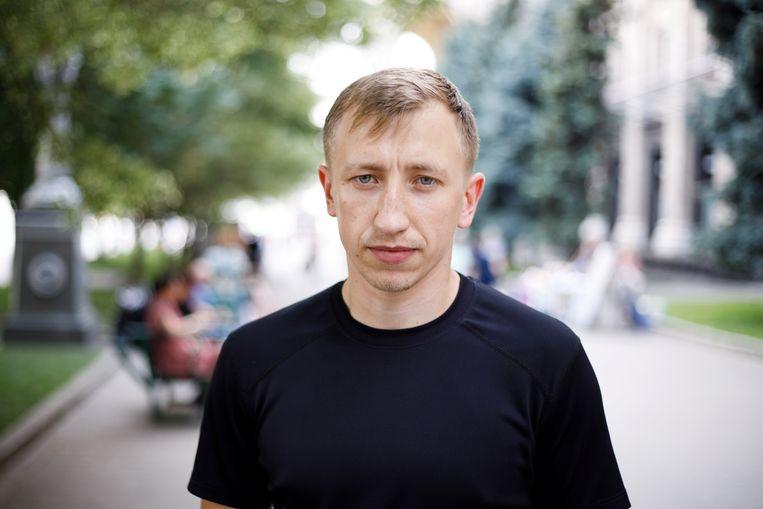 Vitaly Sjisjov in Kiev op 18 juli 2021. Beeld via REUTERS