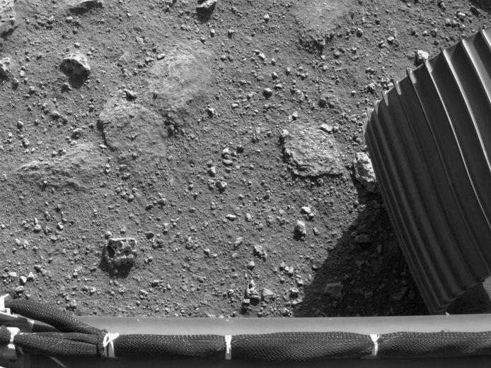De bodem van Mars.