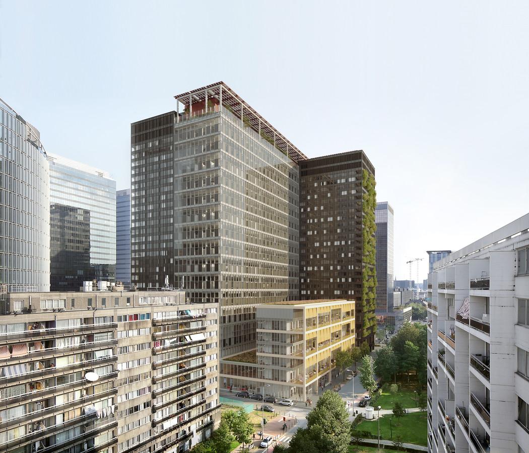 RENDERS van ZIN Brussel - Gebouw waar hotel The Standard in zal komen