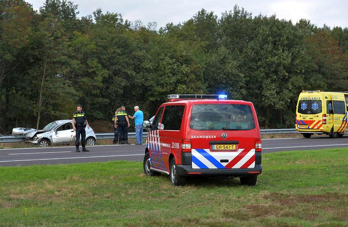 Ongeluk op A67 bij Eersel.