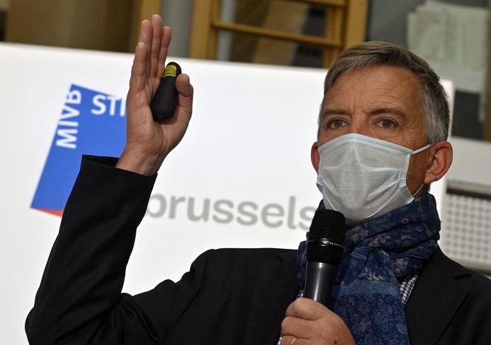 Le CEO de la STIB Brieuc de Meeùs, le 31 mai 2021.