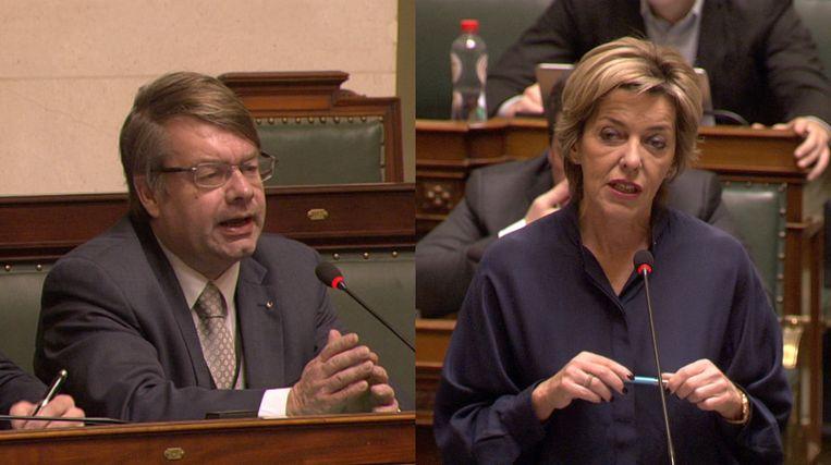 Jan Penris (Vlaams Belang) en Carina Van Cauter (Open Vld).
