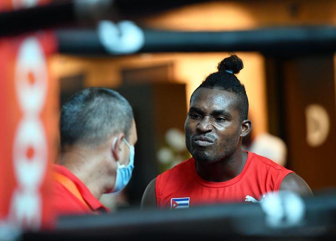 Julio César la Cruz Peraza. De bokser uit Cuba bereidt zich in Rotterdam voor op de Olympische Spelen van Tokio.