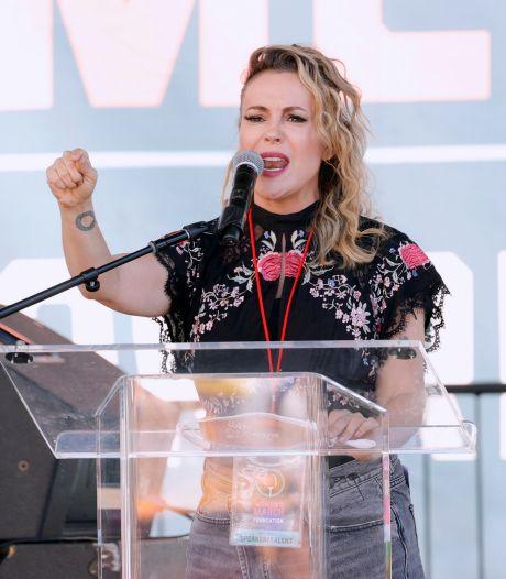 Actrice Alyssa Milano gearresteerd bij demonstratie in Washington