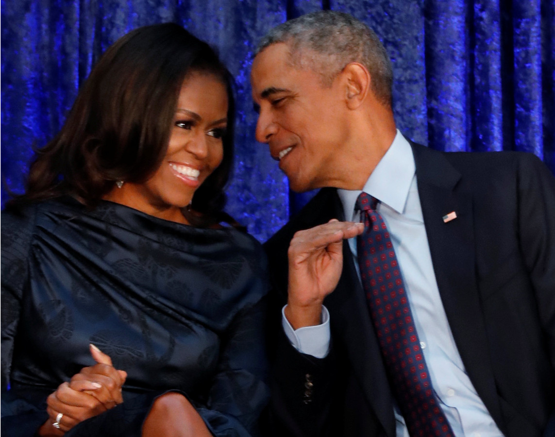 Michelle en Barack Obama.