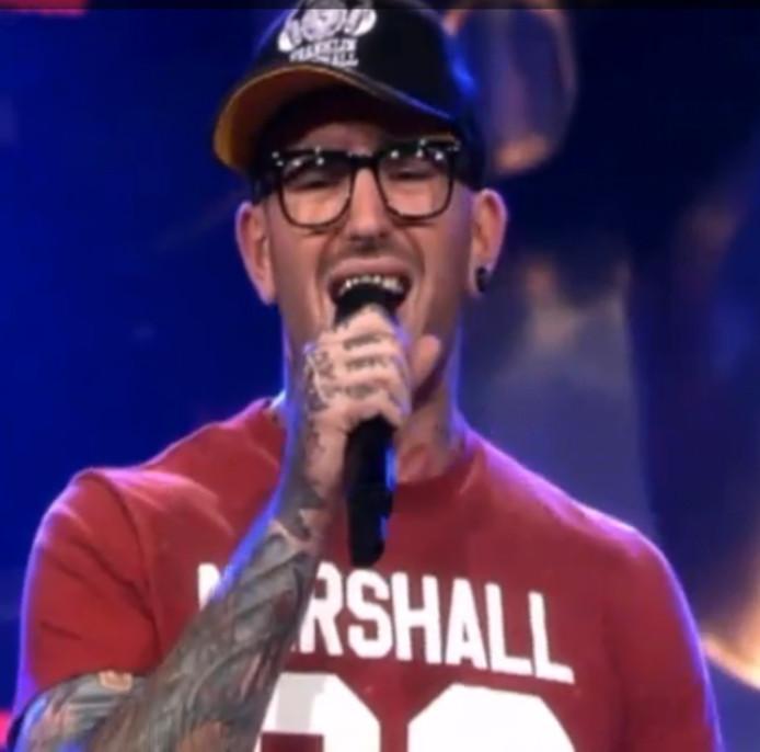 Ben Saunders tijdens zijn auditie in The Voice.