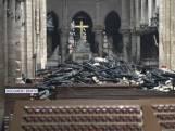 Zo is de binnenkant van de Notre-Dame eraan toe