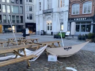 Aurore zorgt voor stormschade in Kortrijk