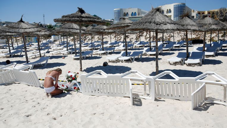 De Tunesische badplaats Sousse waar in juni 2015 een bloedbad werd aangericht. Beeld AP