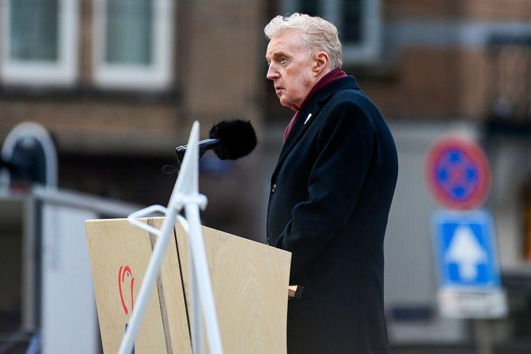 André van Duin tijdens zijn toespraak. Beeld Brunopress