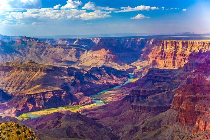Beneden in de Grand Canyon kunnen de temperaturen in de zomer oplopen tot 49 graden in de schaduw.